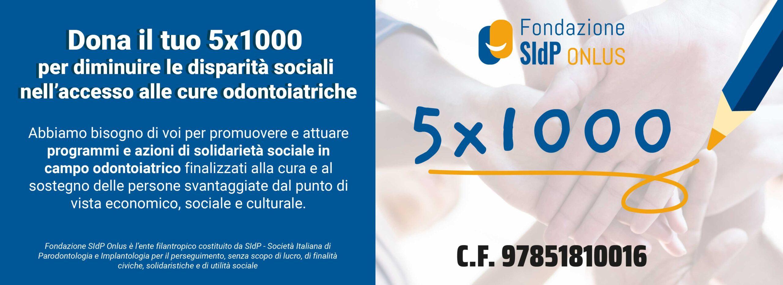 5x1000 Fondazione SIdP ONLUS